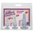 Набор анальных пробок Doc Johnson Crystal Jellies Anal Initiation Kit - Clear