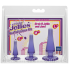 Набор анальных пробок Doc Johnson Crystal Jellies Anal Initiation Kit - Purple