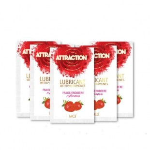 Пробник лубриканта с феромонами MAI ATTRACTION LUBS STRAWBERRY (10 мл)