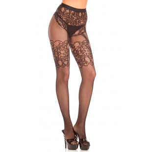 BeWicked Lingerie - CROTCHLESS FISHNET LACE PANTYHOSE (DTBW786)