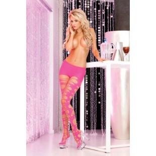 Pink Lipstick Lingerie - Колготки Shredded and torn tights Pink (PL7229004P)