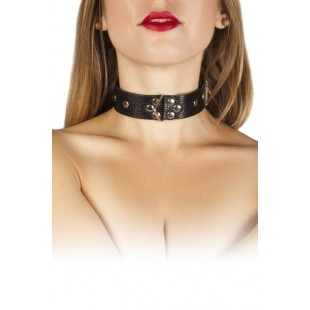 Ошейник Leather Restraints Collar, black