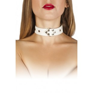 Ошейник Leather Restraints Collar, white