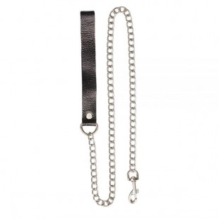Поводок Leather Leash, black