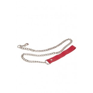 Поводок Leather Leash, red