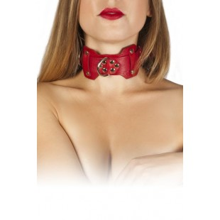 Ошейник VIP Leather Collar, red