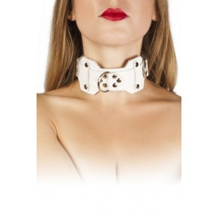 Ошейник VIP Leather Collar, white