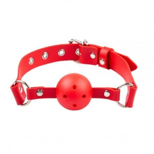 Кляп BDSM-NEW Breathable ball gag plastic, red