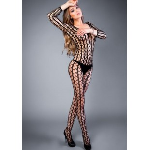 Сетка Bodystocking in a wide net look black, S-L (40-46)