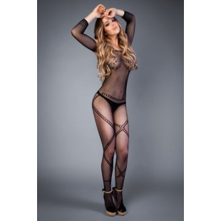 Сетка Bodystocking in a network optic chain pattern black, S-L (40-46)
