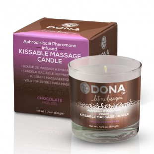 Массажная свеча DONA Kissable Massage Candle Chocolate Mousse (125 мл)