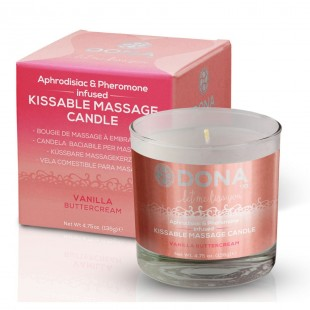 Массажная свеча DONA Kissable Massage Candle Vanilla Buttercream (125 мл)