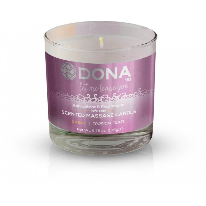 Массажная свеча DONA Scented Massage Candle Tropical Tease SASSY (135 гр)