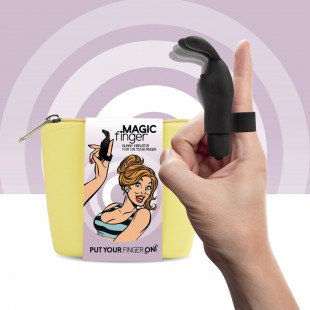 Вибратор на палец FeelzToys Magic Finger Vibrator Black